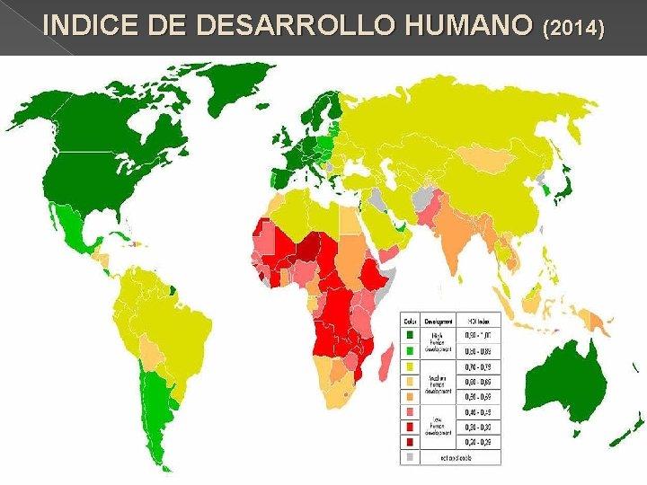 INDICE DE DESARROLLO HUMANO (2014)