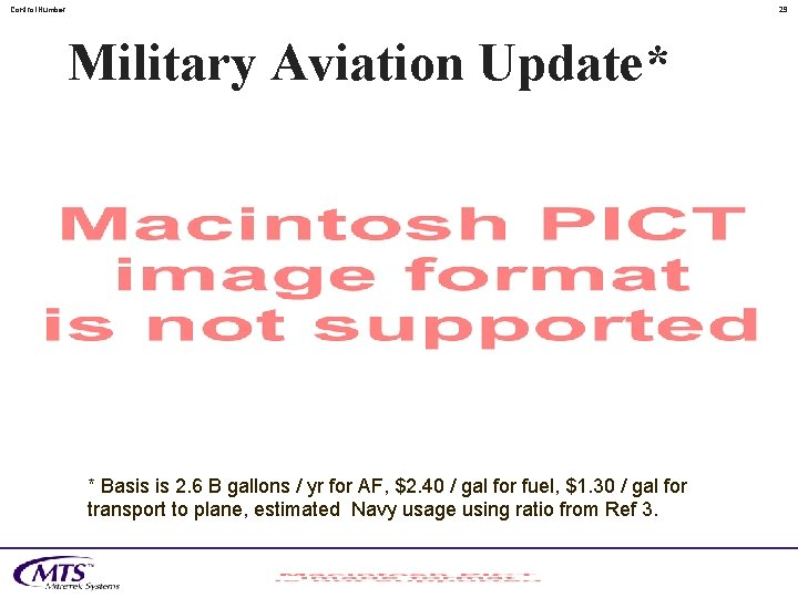 Control. Number 29 Military Aviation Update* * Basis is 2. 6 B gallons /
