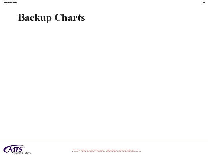 Control. Number 35 Backup Charts