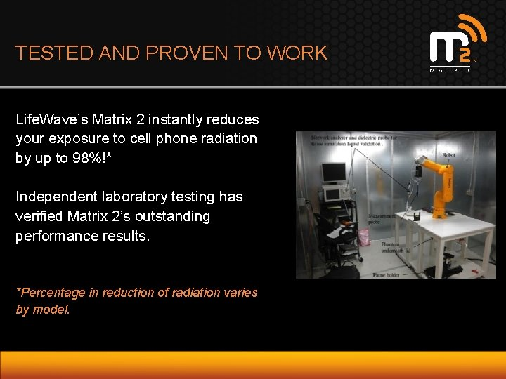 TESTED AND PROVEN TO WORK Life. Wave's Matrix 2 instantly reduces your exposure to