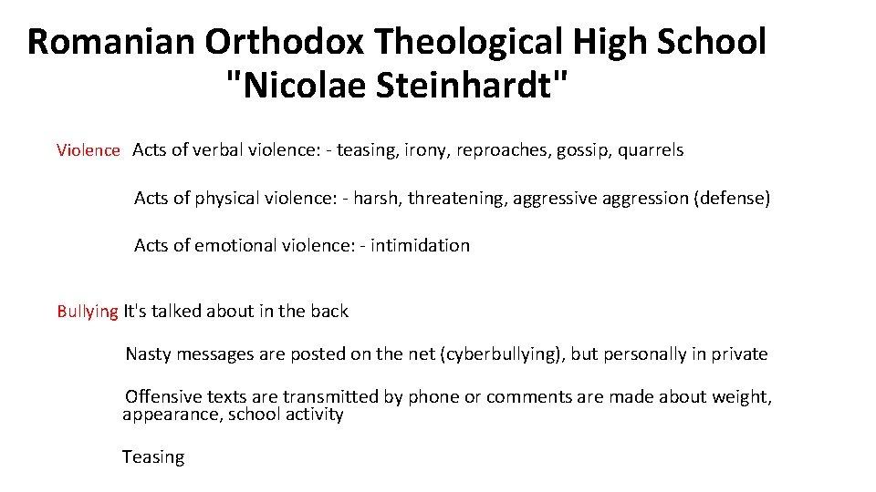 Romanian Orthodox Theological High School