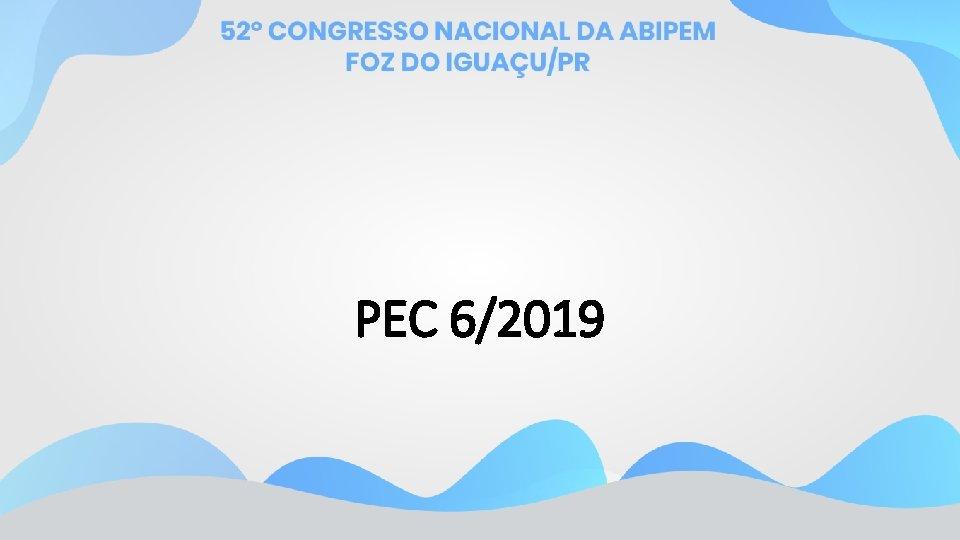 PEC 6/2019