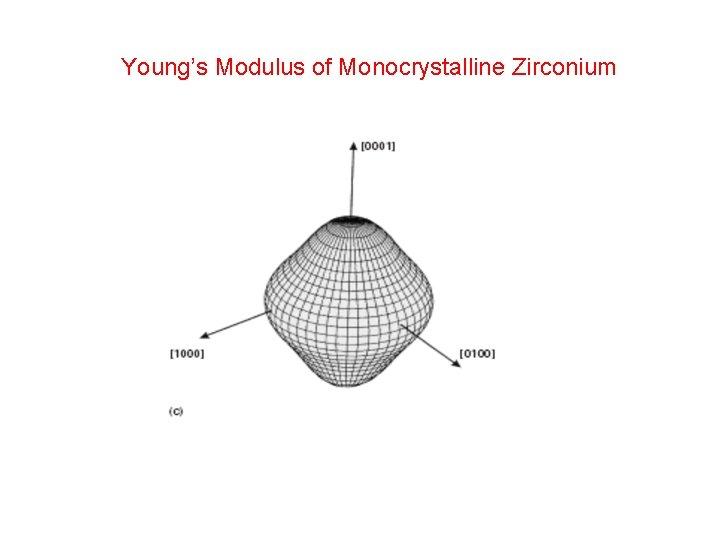 Young's Modulus of Monocrystalline Zirconium