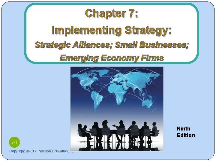 Chapter 7: Implementing Strategy: Strategic Alliances; Small Businesses; Emerging Economy Firms Ninth Edition 7