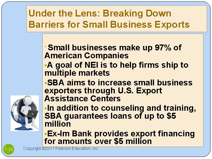 Under the Lens: Breaking Down Barriers for Small Business Exports Small businesses make up