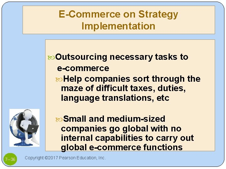 E-Commerce on Strategy Implementation Outsourcing necessary tasks to e-commerce Help companies sort through the