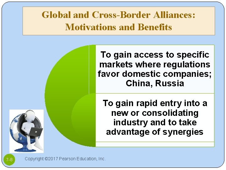 Global and Cross-Border Alliances: Motivations and Benefits To gain access to specific markets where