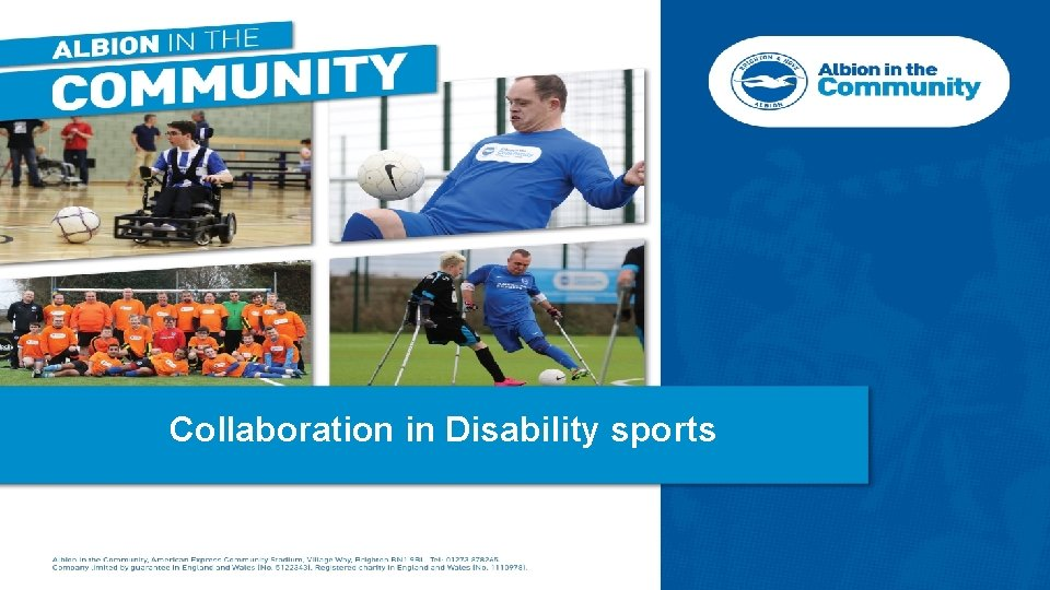 Collaboration in Disability sports