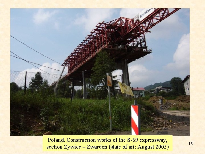 Poland. Construction works of the S-69 expressway, section Żywiec – Zwardoń (state of art: