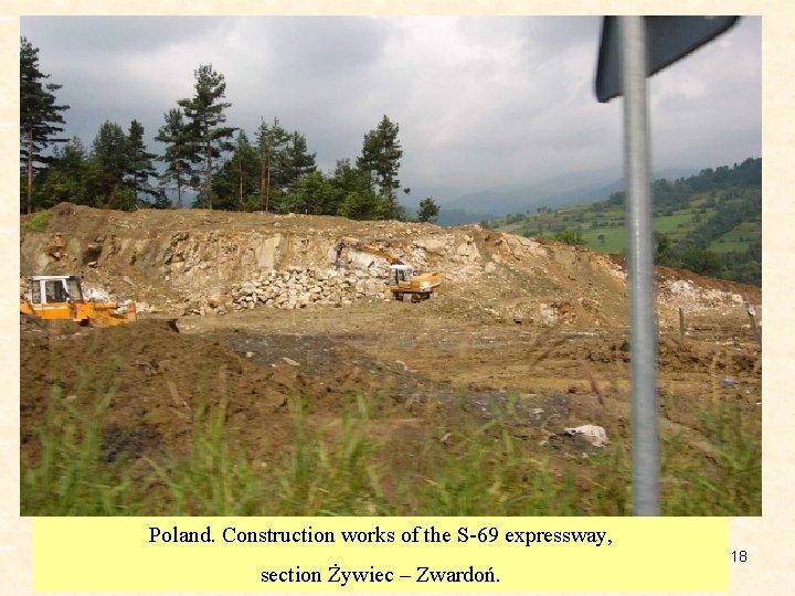 Poland. Construction works of the S-69 expressway, section Żywiec – Zwardoń. 18