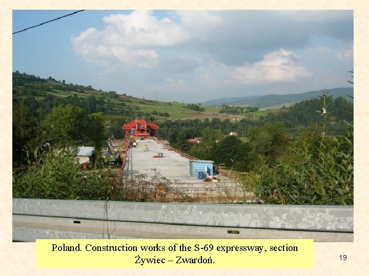 Poland. Construction works of the S-69 expressway, section Żywiec – Zwardoń. 19