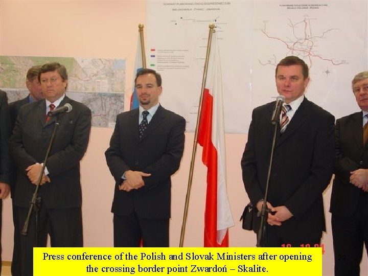 Press conference of the Polish and Slovak Ministers after opening the crossing border point