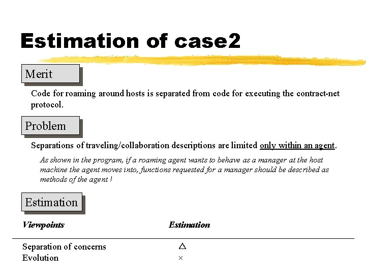 Estimation of case 2 Merit Code for roaming around hosts is separated from code