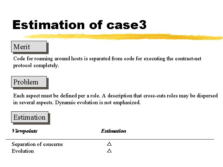 Estimation of case 3 Merit Code for roaming around hosts is separated from code