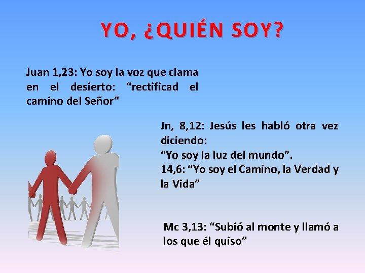 YO, ¿QUIÉN SOY? Juan 1, 23: Yo soy la voz que clama en el