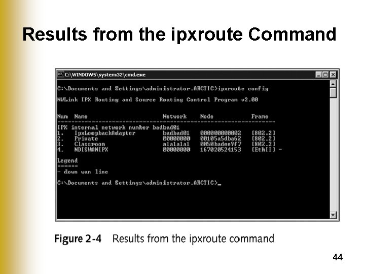Results from the ipxroute Command 44