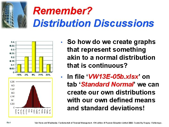 Remember? Distribution Discussions 5 b. 4 • So how do we create graphs that