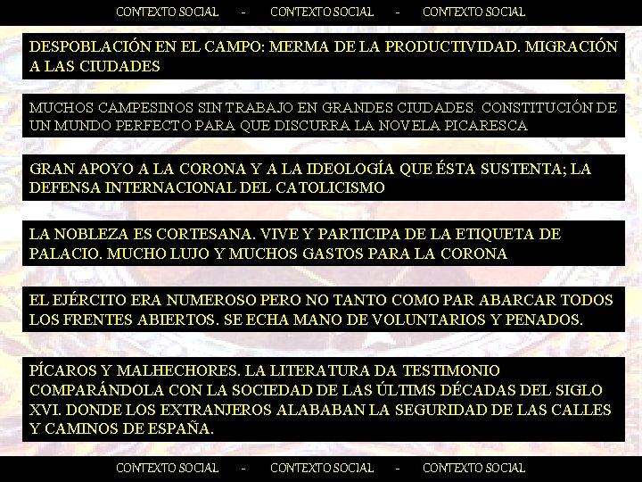 CONTEXTO SOCIAL - CONTEXTO SOCIAL DESPOBLACIÓN EN EL CAMPO: MERMA DE LA PRODUCTIVIDAD. MIGRACIÓN