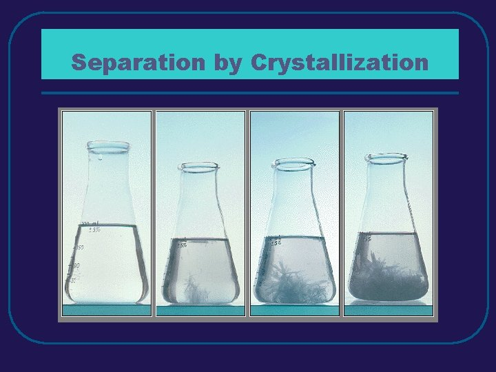 Separation by Crystallization
