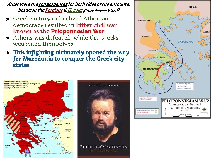 What were the consequences for both sides of the encounter between the Persians &