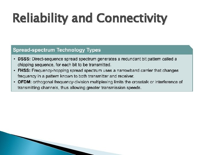 Reliability and Connectivity