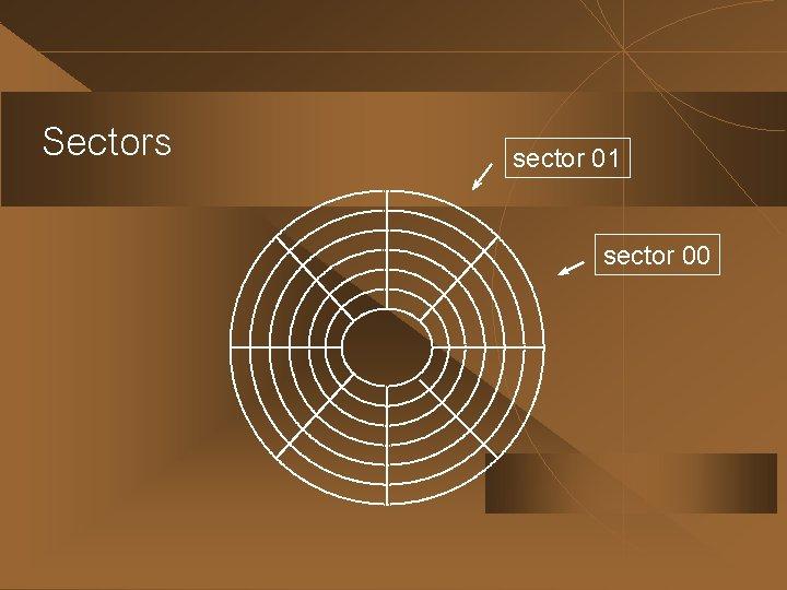 Sectors sector 01 sector 00