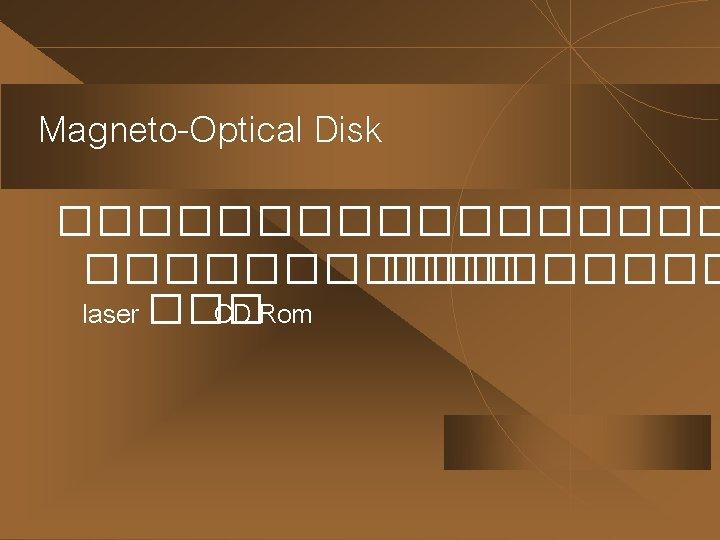Magneto-Optical Disk ��������� ����� laser ��� CD Rom