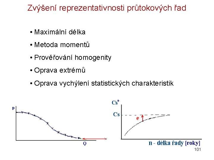 Zvýšení reprezentativnosti průtokových řad • Maximální délka • Metoda momentů • Prověřování homogenity •