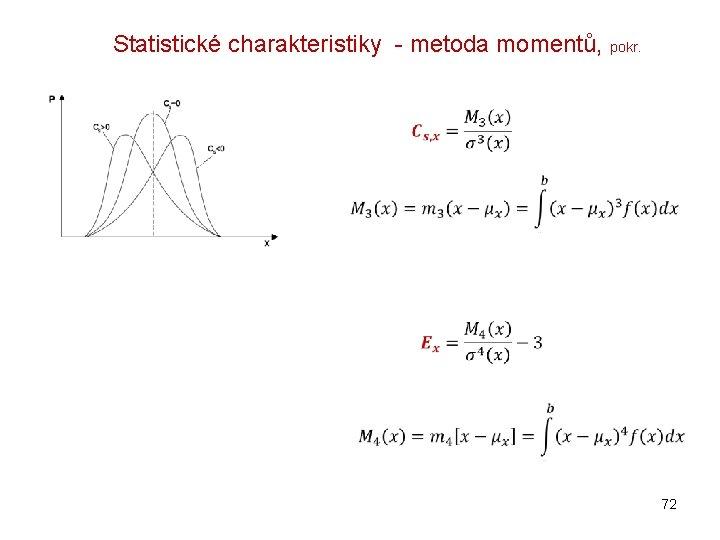 Statistické charakteristiky - metoda momentů, pokr. 72