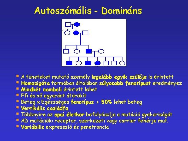 myopia domináns gén)