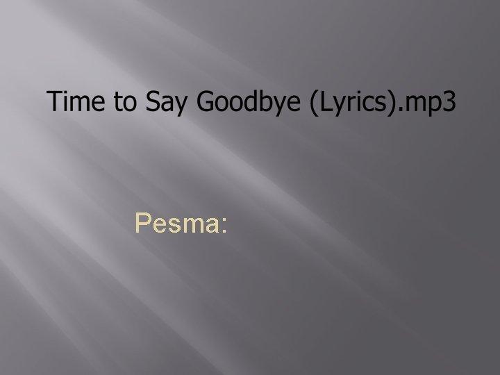 Pesma: