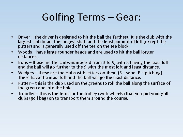 Club u sloveniji swing Understanding Golf