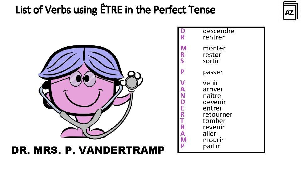 French Verbs That Take 'Être' as Their Auxiliary Verb