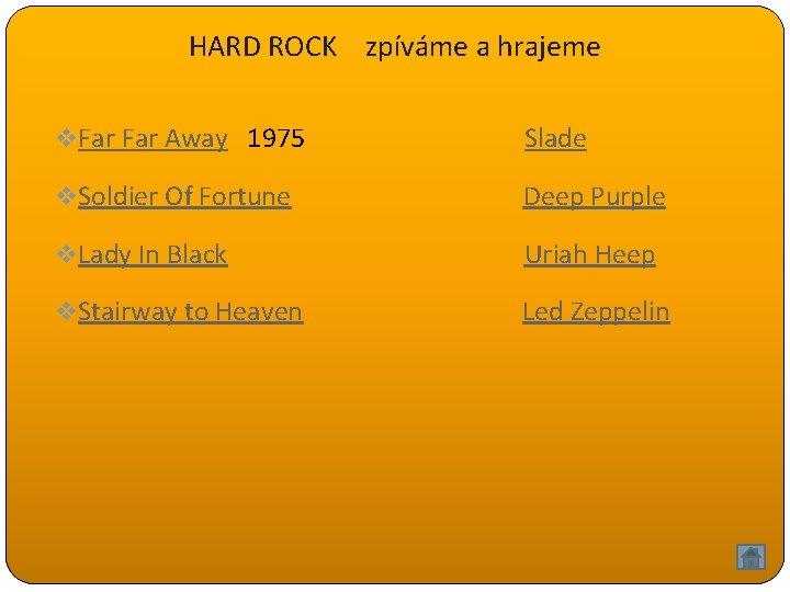 HARD ROCK zpíváme a hrajeme v Far Away 1975 Slade v Soldier Of Fortune
