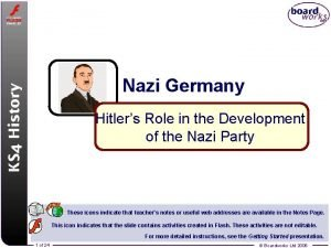 Nazi Germany Hitlers Role in the Development of