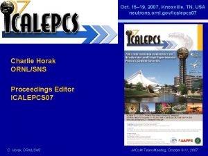 Oct 15 19 2007 Knoxville TN USA neutrons