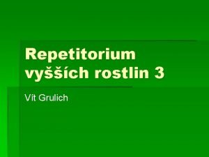 Repetitorium vych rostlin 3 Vt Grulich Caryophyllaceae soust