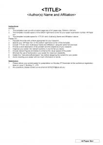 TITLE Authors Name and Affiliation Instructions NOTES 1