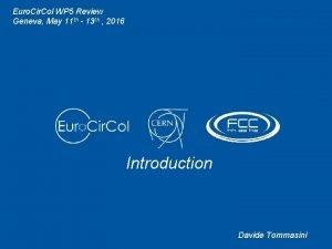 Euro Cir Col WP 5 Review Geneva May