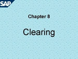 Chapter 8 Clearing Knowledge point 1 Clearing Open