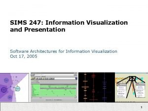 SIMS 247 Information Visualization and Presentation Software Architectures