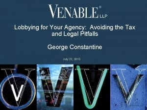 Lobbying for Your Agency Avoiding the Tax and