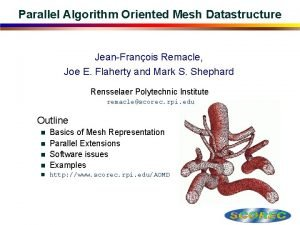 Parallel Algorithm Oriented Mesh Datastructure JeanFranois Remacle Joe