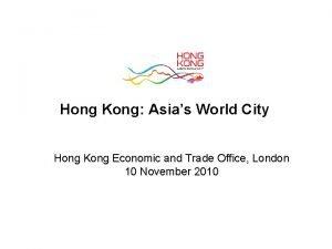 Hong Kong Asias World City Hong Kong Economic
