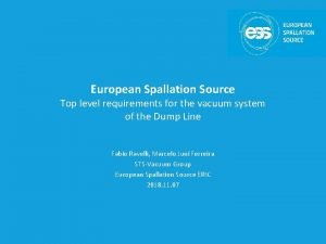 European Spallation Source Top level requirements for the