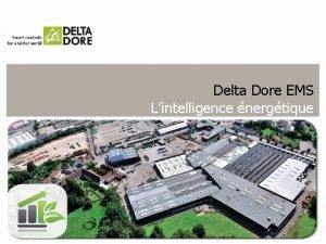 Delta Dore EMS Lintelligence nergtique Delta Dore EMS