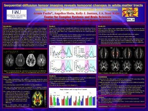 894 18 Introduction Results III Diffusion tensor imaging
