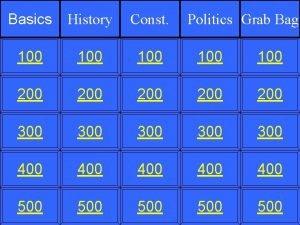 Basics History Const 100 100 100 200 200