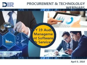 PROCUREMENT TECHNOLOLGY WEBINARS for Agency Procurement Technology Professionals