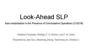 LookAhead SLP Autovectorization in the Presence of Commutative